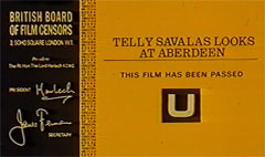 Telly Savalas Looks At Aberdeen - Certificate